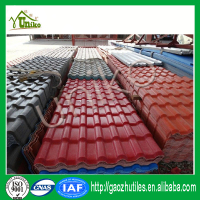 Easy installation pvc plastic synthetic tile model house roof