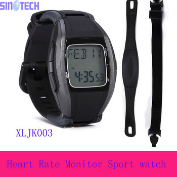 Best quality Waterproof Heart Rate Monitor Wireless Chest Strap Sport Watch XLJK003 with CE certificate