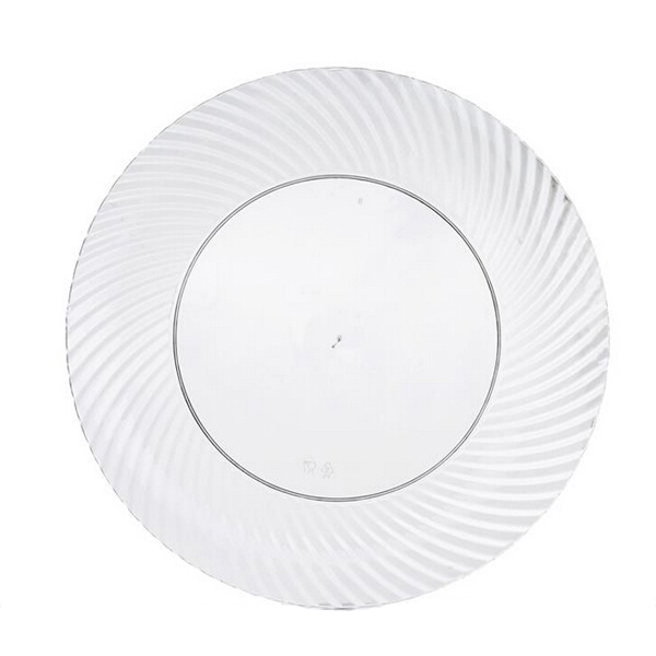 6'' Plastic Clear Seashell Plate