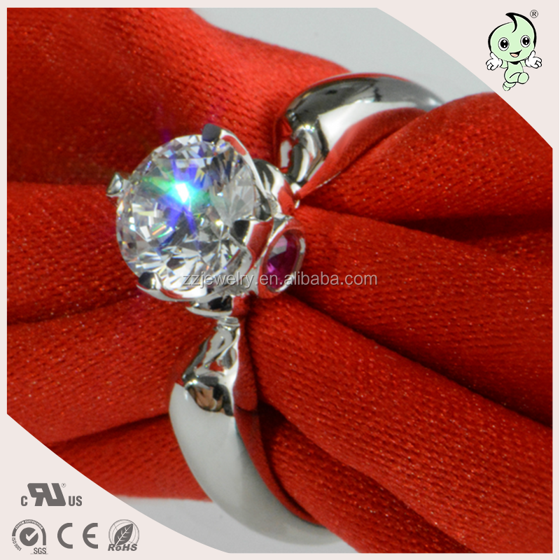 Hot Sales Classical 925 Finger Wedding Jewelry 925 Sterling Silver Imported Diamond Ring