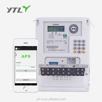 Three phase Smart Prepaid Electricity Meter Smart Electric Meter with Prepaid operating system