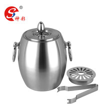 High Quality Acrylic Ice Bucket Stainless Steel Champagne Wine Ice Bucket Beer Cooler