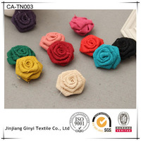 BLOSSOM JUTE rose flower for garment, wedding, and home decoration