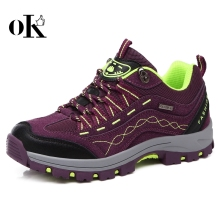 New design women leisure shoe leather mountaineering wear-resisting bottom Hiking Shoes