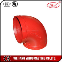 FM/UL carbon steel pipe elbow 90 degree elbow fittings
