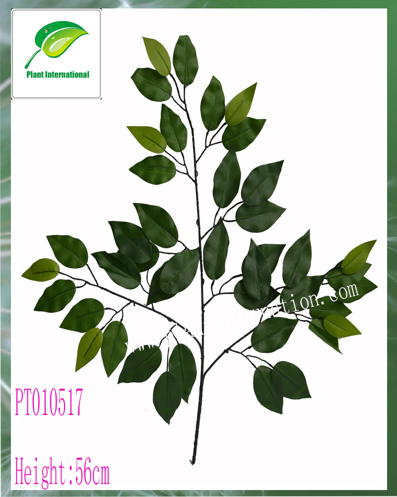 artificia ficus spray leaves /leaves single branch for decoration