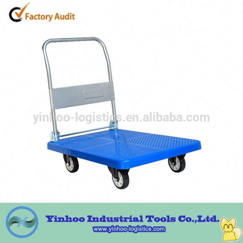 collapsible rigid plastic trolley/dolly cheap price wholesale