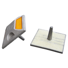 Roadway Products Flashing Solar Light Reflector, Manufacturer Stainless Steel Tachas Viales#