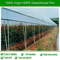 100% virgin HDPE/PE blue garden greenhouse film for agriculture can last 5 years 60 months UV protective 80% transparent