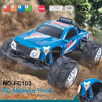 2015 new item cheap plastic toy trucks with lightFC103 rc big trucks 1/10 scale 4x4 rc truck