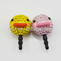 Wholesale Funny decorated duck animal custom cell phone ear cap anti dust plug MCD-0050