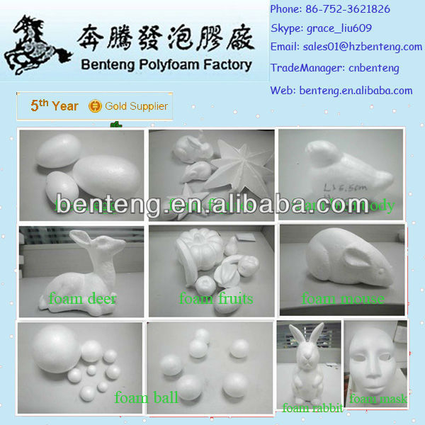 2013 high-quality decorative glitter foam easter egg