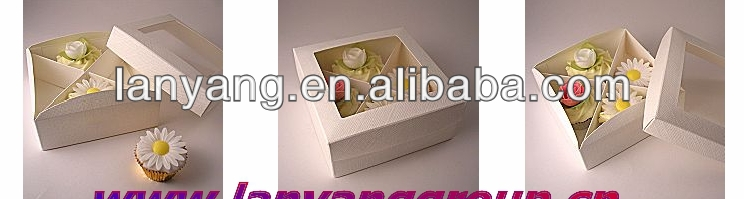4 cheap custom made plastic cupcake take away box
