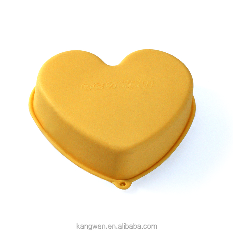 Food grade custom made silicone microwave safe heart shaped cake pan/ mini baking moulds