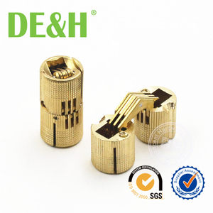 Top quality 180 Degree small jewelry box brass cylindrical hinges