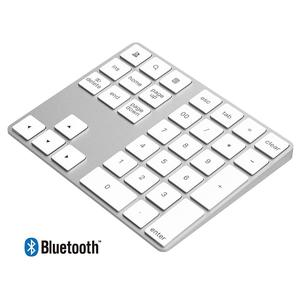 Newest amazom hot selling space gray bluetooth numeric number pad keyboard for apple laptop android tablet
