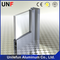 6000 Grade Extrusion Frame aluminum profile for glass shower doors