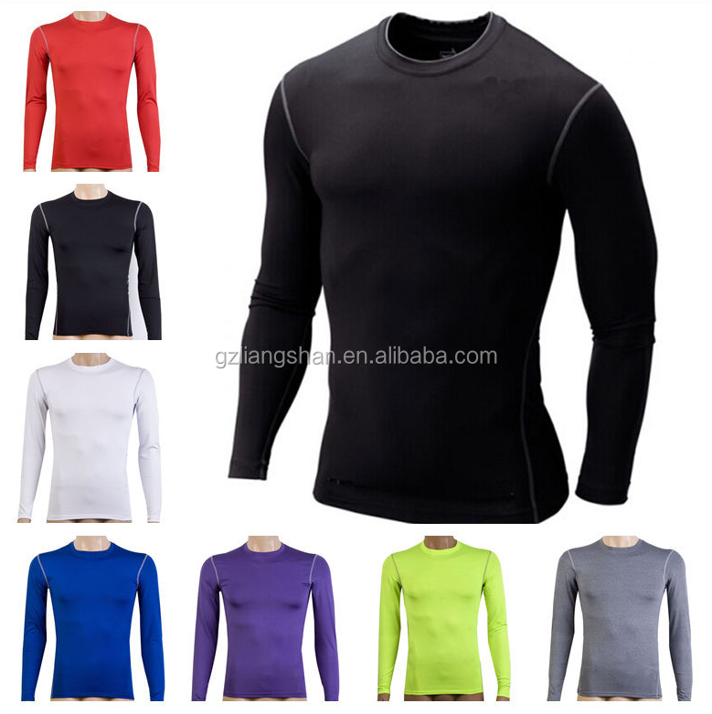 Mens Compression Armour Base Layer Top Under Skin Tight Thermal Gym Sports T-Shirt