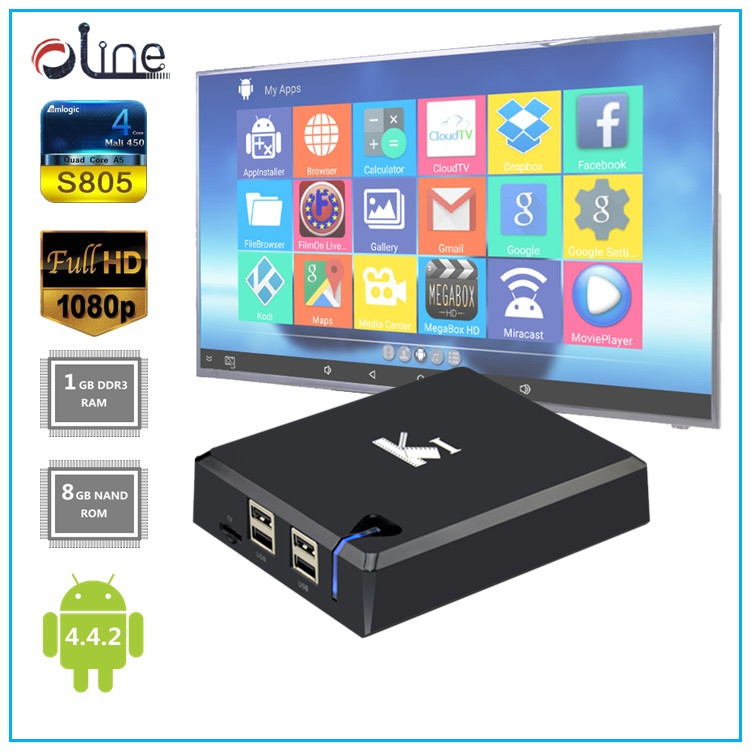 Android 4.4.2 8GB ROM 1GB RAM K1 dvb s2 tv box Professional software download set top box