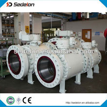 ASTM Standard Plastic Flange Gear Operation Ball Valve
