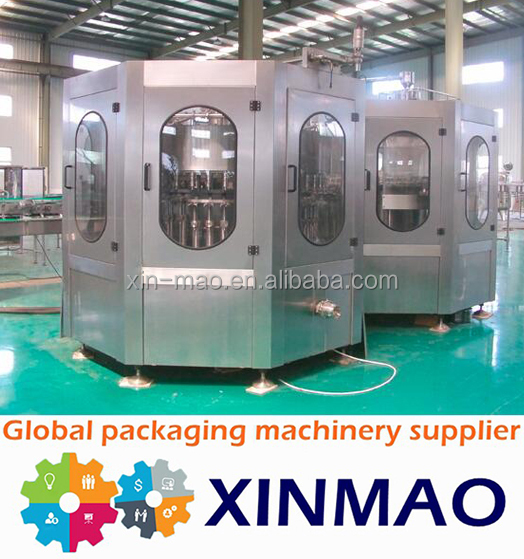 Automatic washing filling capping 3 in 1 triblock for mineral water packaging machine /beverage bottling equipment/drin