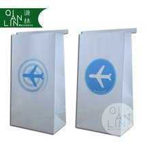 Disposable Tin Tie Airplane Vomit Paper Bag Air sickness paper bag