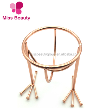 Popular Miss Sponge Metal Chicken Feet Powder Puff Stand for Makeup Sponges