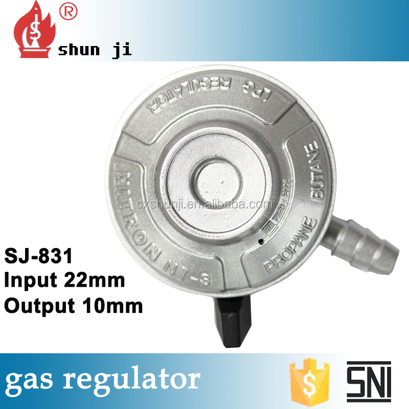 Great material zinc alloy lacquer that bake Jumbo automatic gas regulator