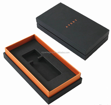 two piece box with black eva insert for perfume packaging