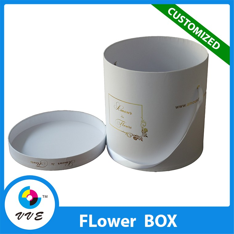 Custom paper flowers box craft kraft paper tube white for Kraft paper craft tubes