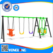 Outdoor single metal swing set