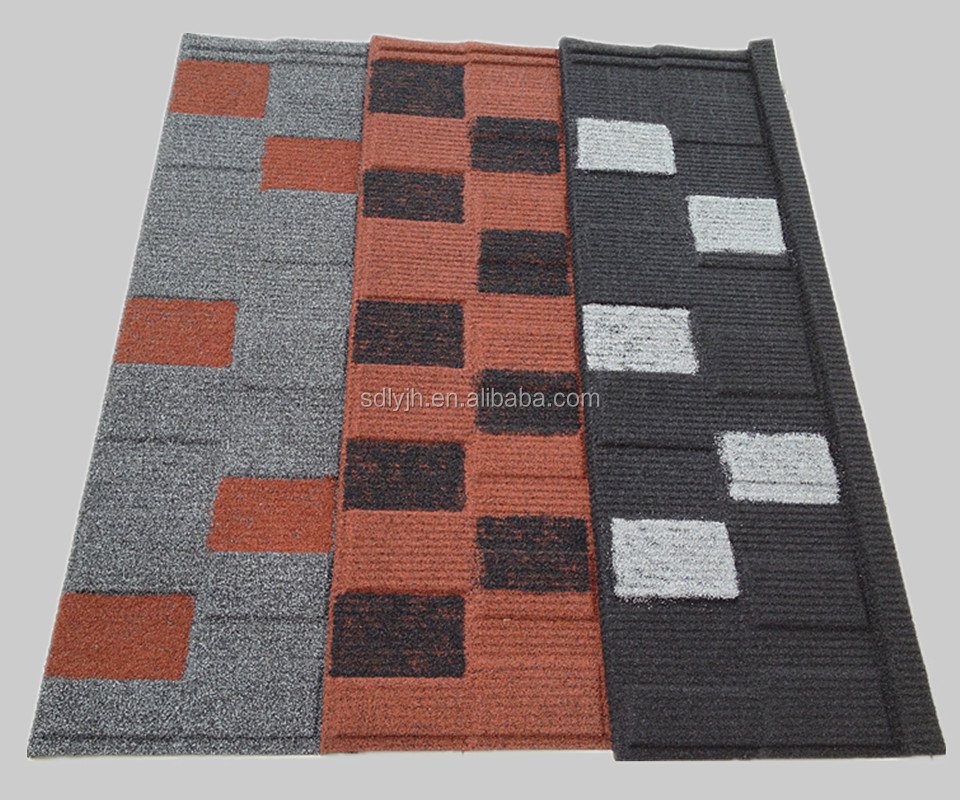 Shingle double color stone coated metal roofing tile