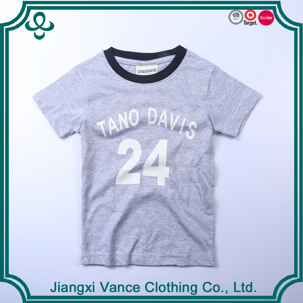 hot sell 100 combed cotton TANO DAVIS brand number print t shrits high quality