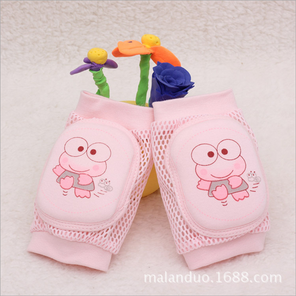 Pink Soft cartoon Baby Safety Learn to walk pads baby crawling knee protector