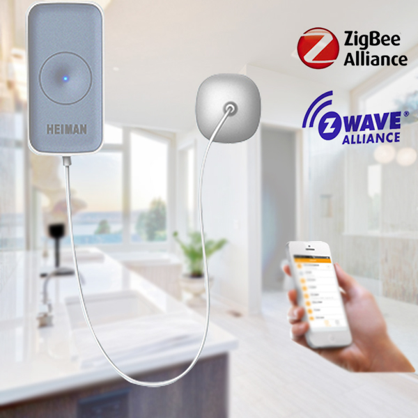 Wall mounted z-wave water leakage alarm smart water flood sensor