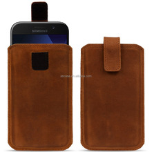 Premium Universal Genuine Leather Sleeve Pouch for Samsung Galaxy S8