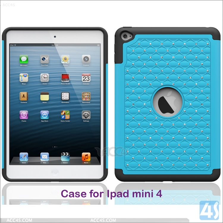 New Kids Safe Hard Protective Bling Bling Case for iPad mini 4