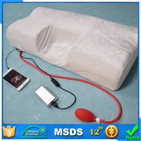 Height adjustable heating memory foam pillow with ear holes