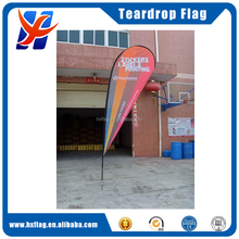 Cheaper 100% polyester teardrop flag for sale