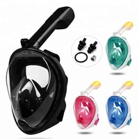 Underwater Diving Mask full face Snorkel mask Swimming Training Spearfishing Scuba full face snorkeling mask Anti Fog For Gopro