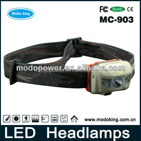 Rechargeable outdoor headlamp led head light with Micro USB