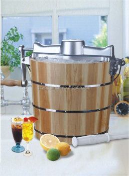4QT Wood Bucket Ice Cream Freezer