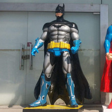 Movie Action Figure Superhero Life Size Fiberglass Batman Statue