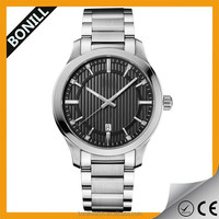 Fashionable cheap brand stainless steel chain wrist watch for man