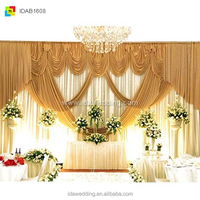 wedding backdrop with stand with swag/backdrop stand crystal/sea decoration