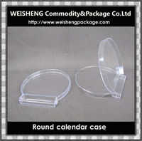 China hot sale plastic clear transparent calendar case/calendar case