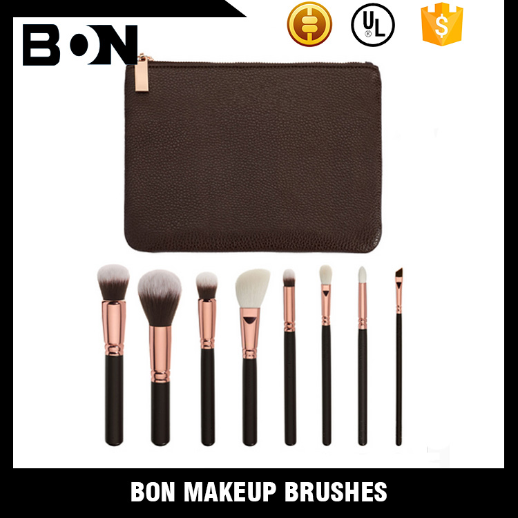 Synthetic hair material stucco brush rose gold makeup brush suit