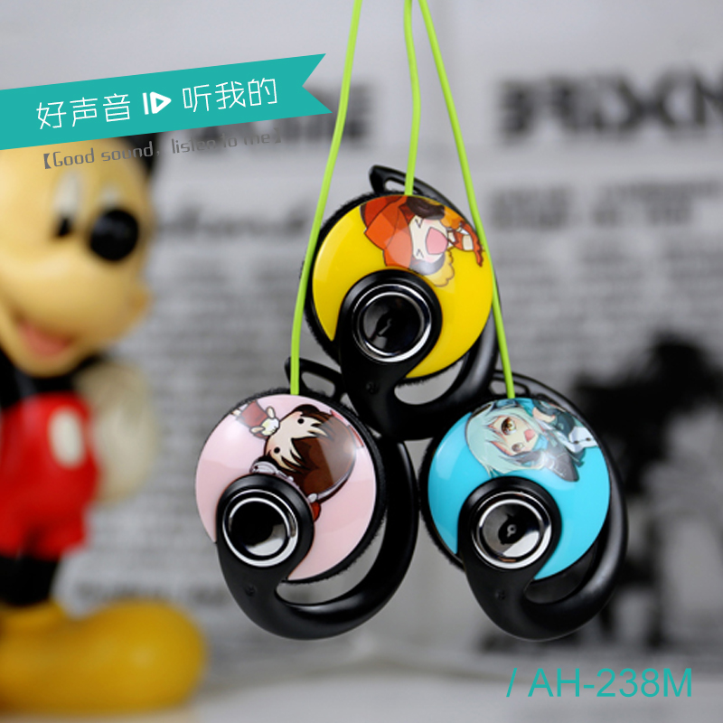 Ideal gift accessory beautiful ear hanging type earphones for girls