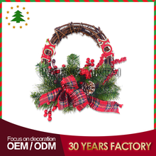 New rattan wholesale types of wreath decorations picks christmas baubles