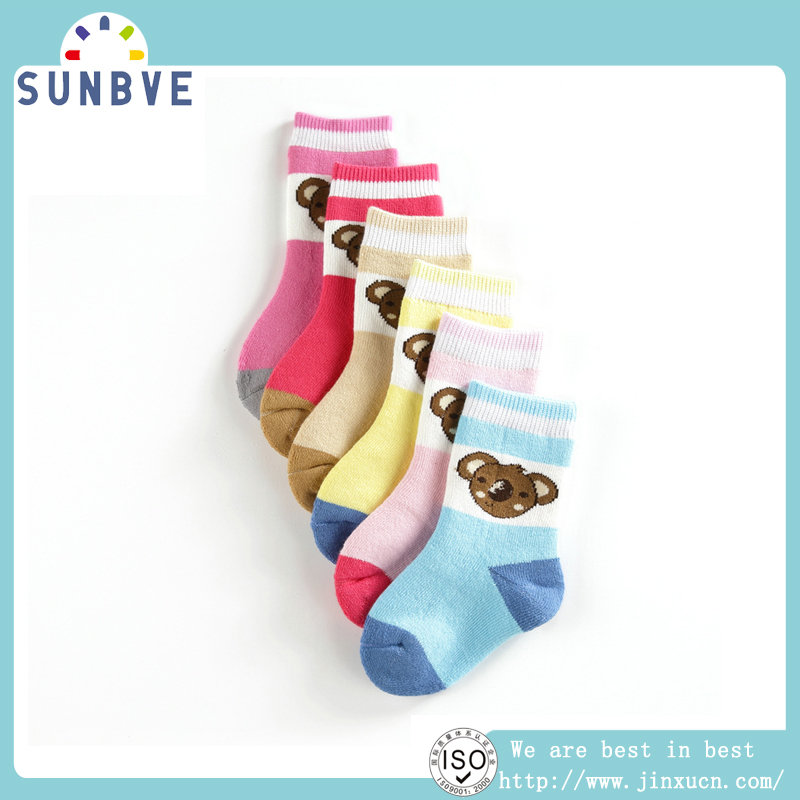 full cotton terry socks Wholesale lot of kid terry socks, top quality no tight infant socks fit winter